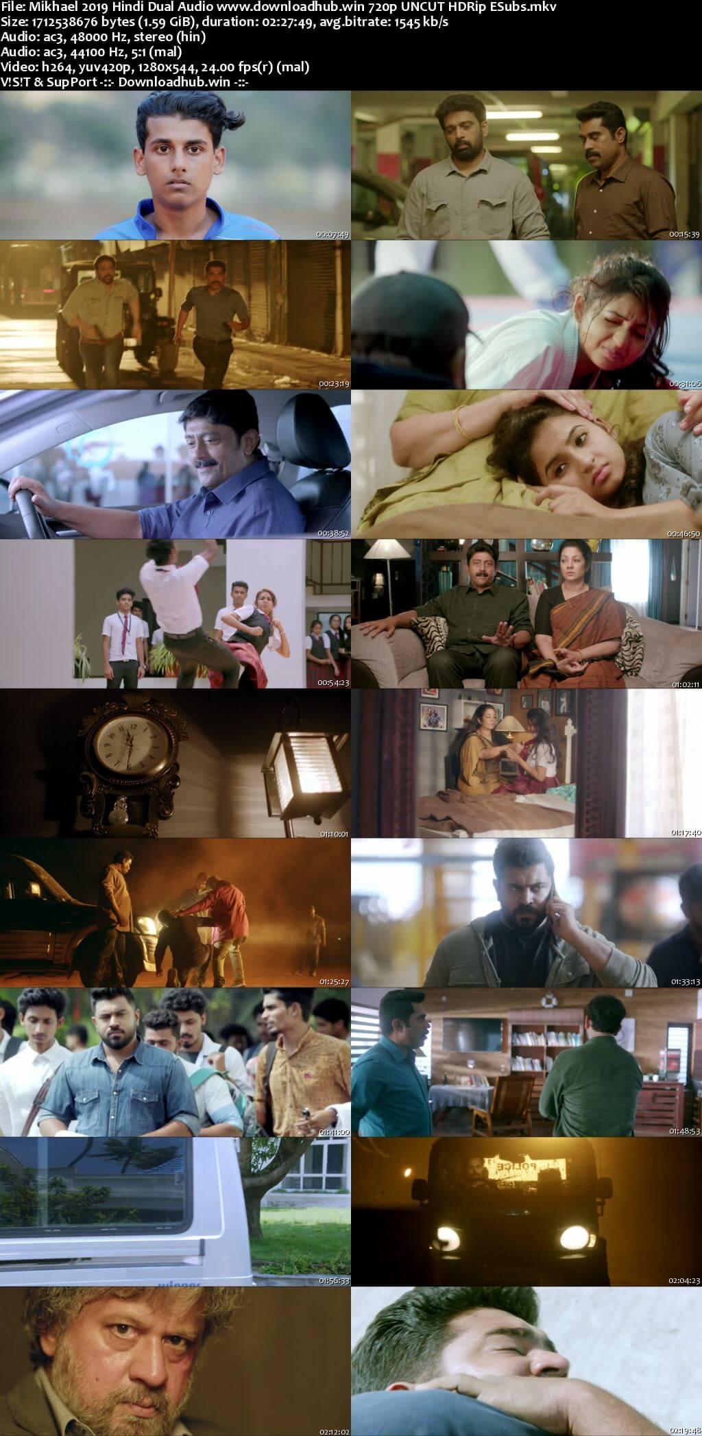 Mikhael 2019 Hindi Dual Audio 720p UNCUT HDRip ESubs
