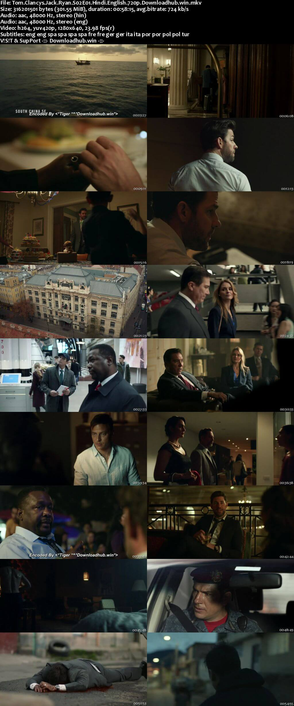 Tom Clancys Jack Ryan S02 Complete Hindi Dual Audio 720p 480p Web-DL MSubs