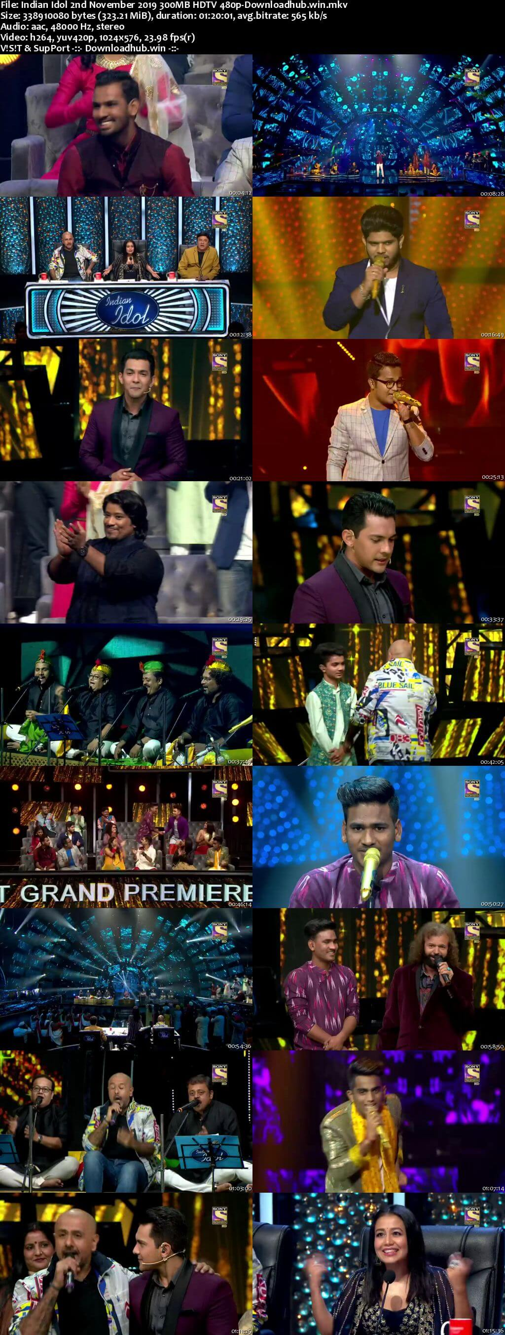 Indian Idol 02 November 2019 Episode 07 HDTV 480p