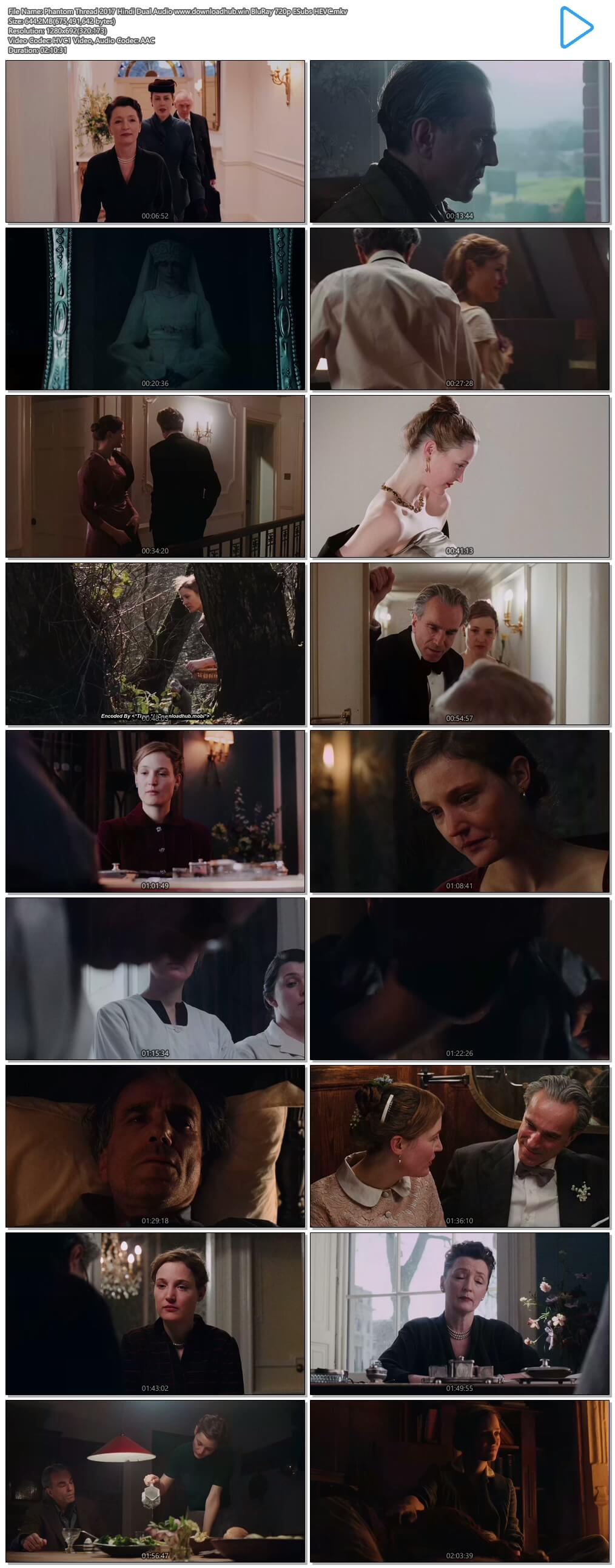 Phantom Thread 2017 Hindi Dual Audio 650MB BluRay 720p ESubs HEVC