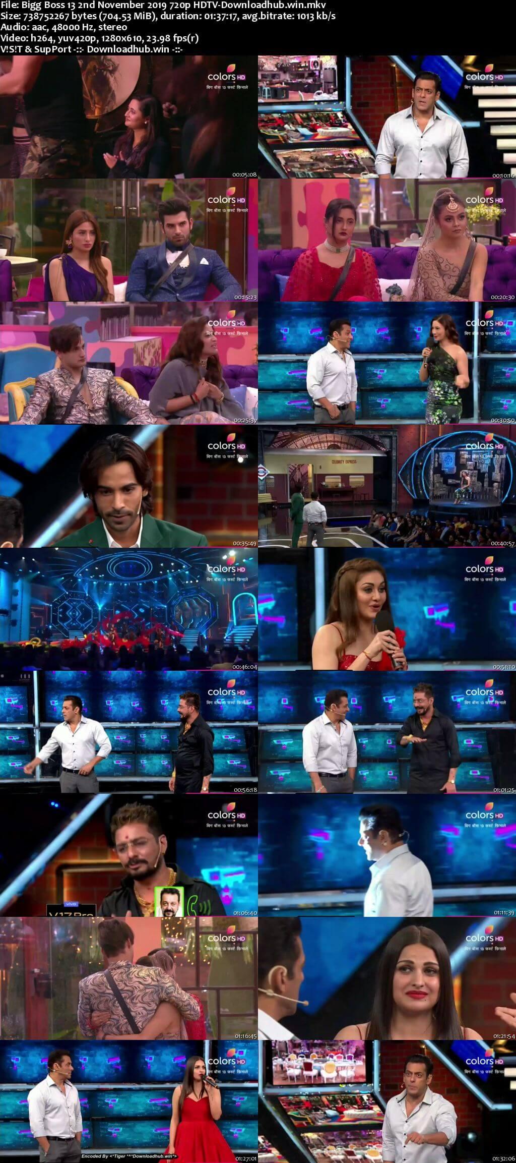 Bigg Boss 13 02 November 2019 Episode 33 HDTV 720p 480p