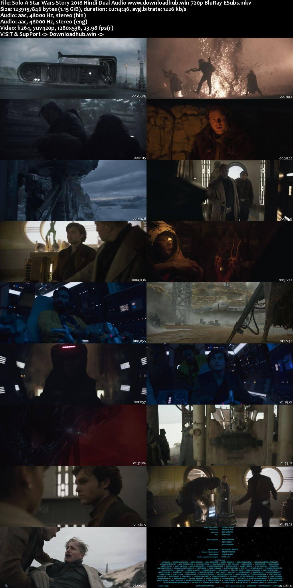 Solo A Star Wars Story 2018 Hindi Dual Audio 720p BluRay ESubs