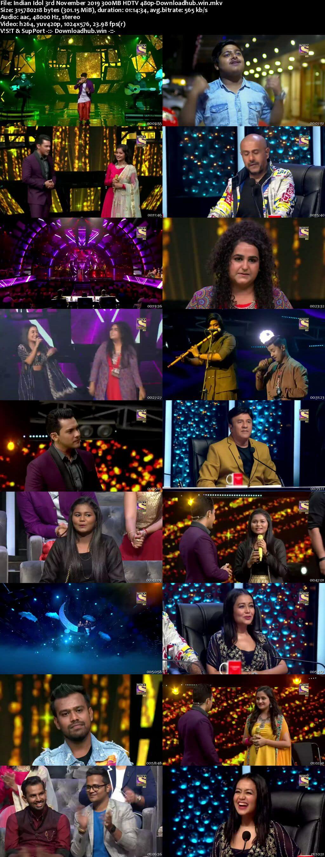 Indian Idol 03 November 2019 Episode 08 HDTV 480p
