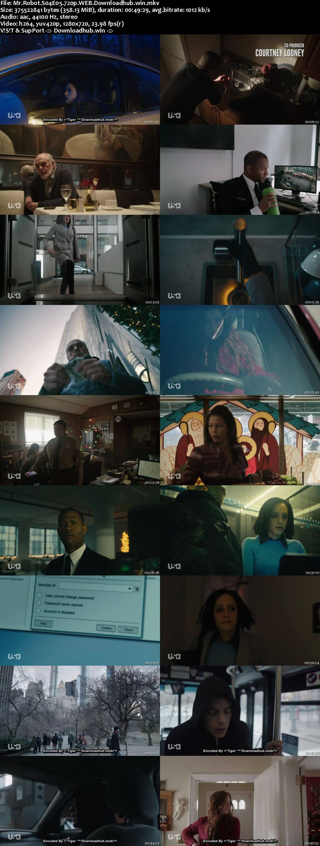 Mr Robot S04E05 350MB WEB-DL 720p x264