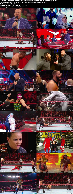 WWE Monday Night Raw 4th November 2019 720p 500MB HDTVRip 480p