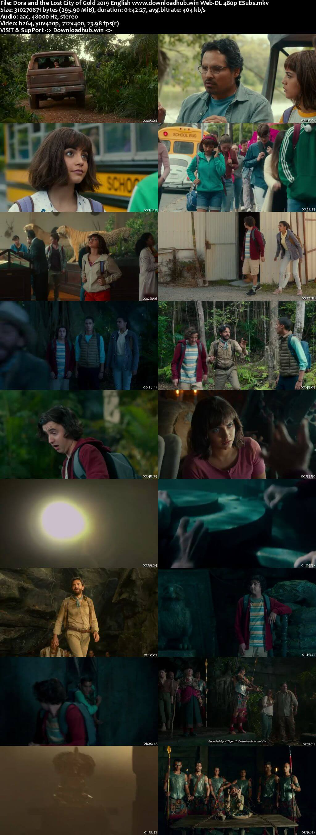 Dora and the Lost City of Gold 2019 English 300MB Web-DL 480p ESubs