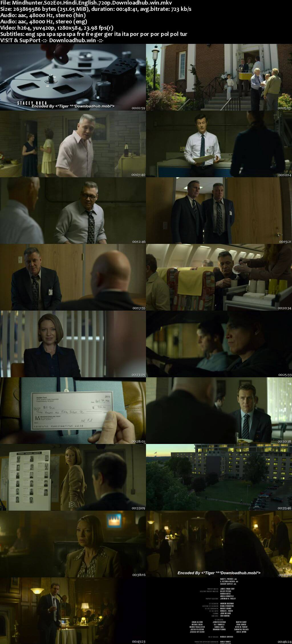 Mindhunter S02 Complete Hindi Dual Audio 720p Web-DL MSubs