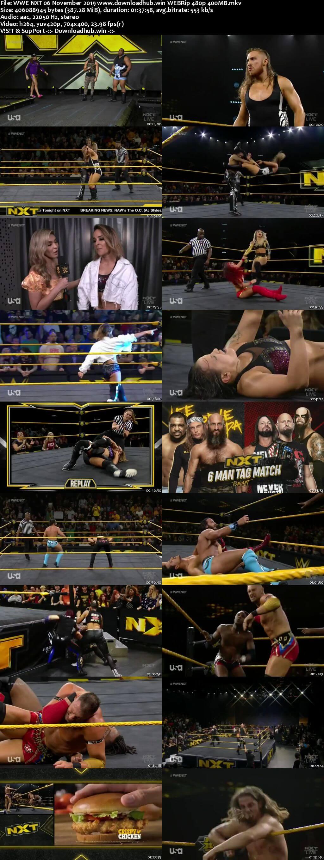 WWE NXT 6th November 2019 350MB HDTV 480p
