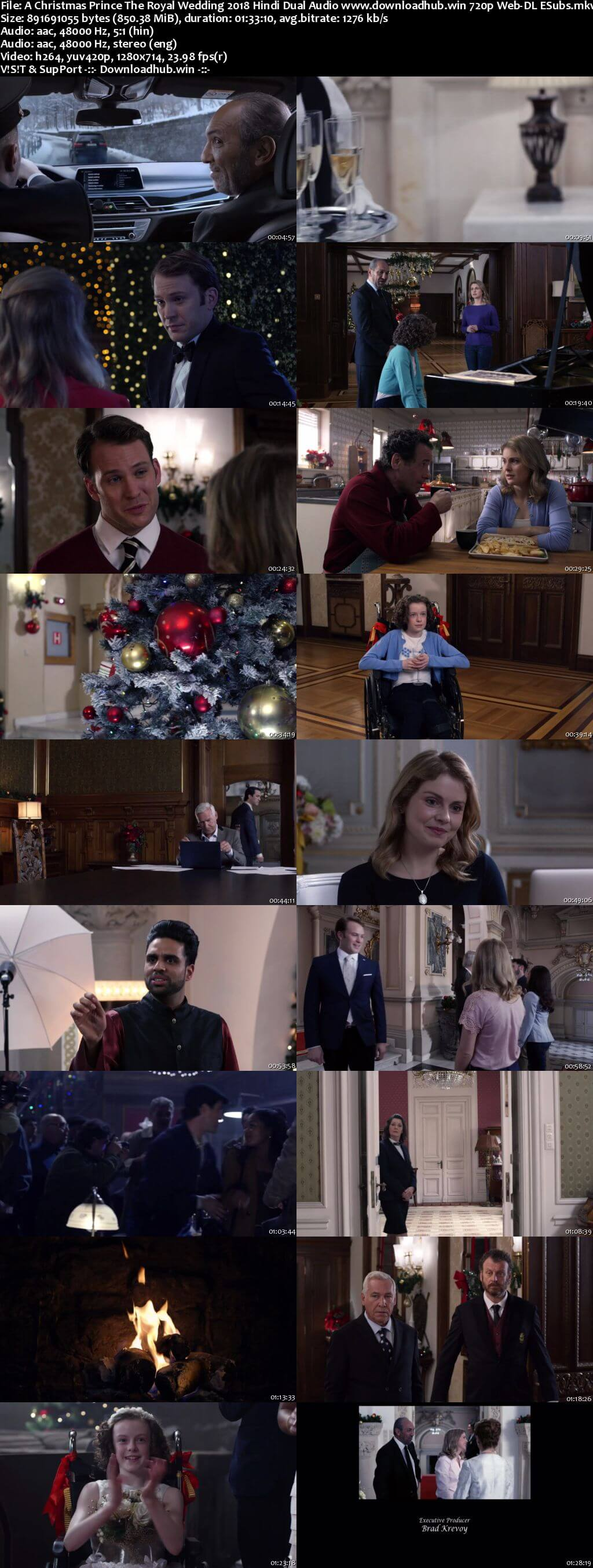 A Christmas Prince The Royal Wedding 2018 Hindi Dual Audio 720p Web-DL ESubs