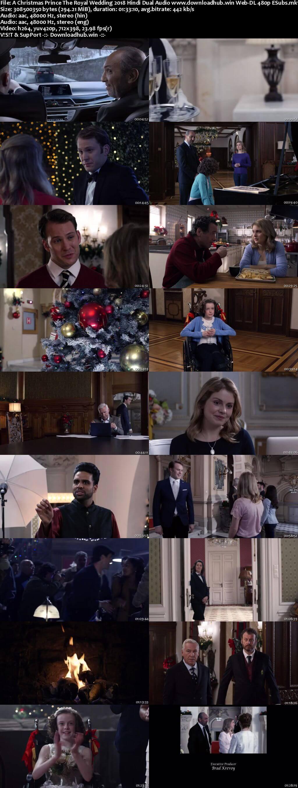 A Christmas Prince The Royal Wedding 2018 Hindi Dual Audio 300MB Web-DL 480p ESubs