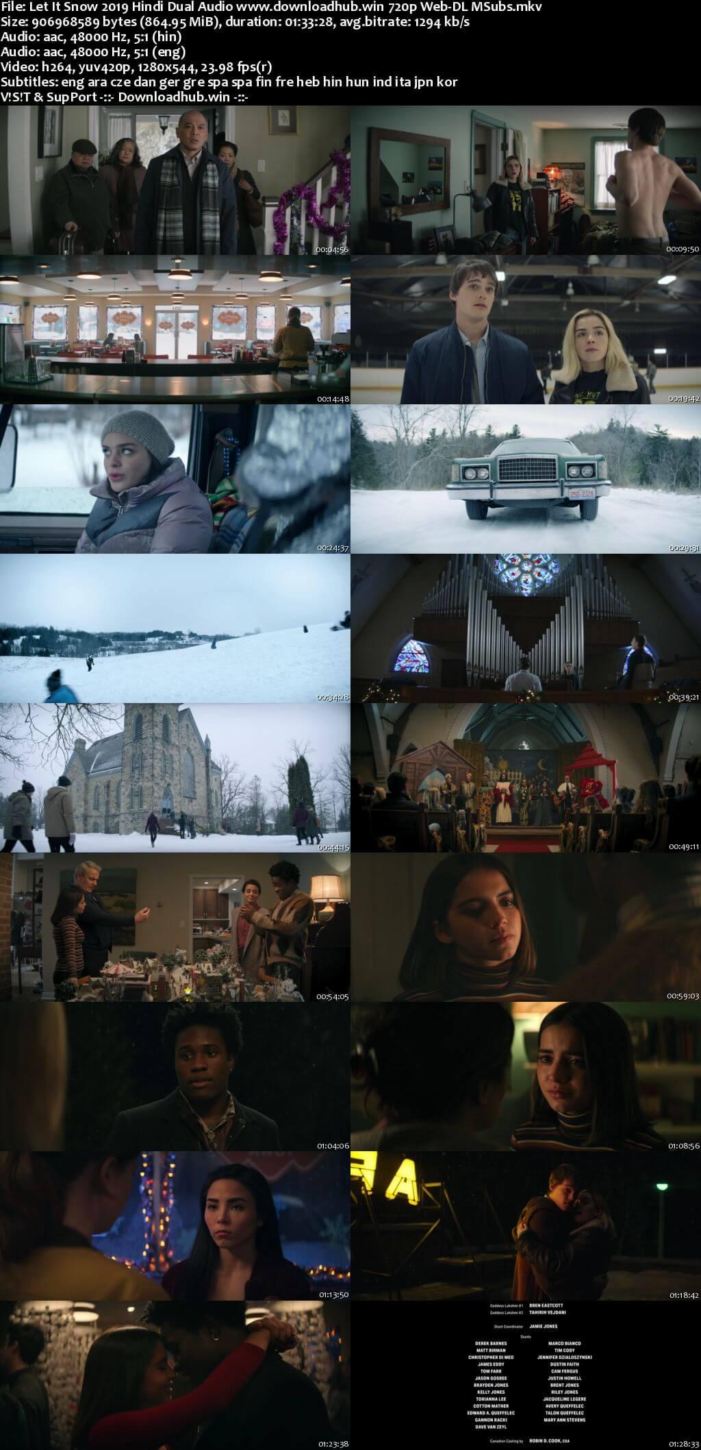 Let It Snow 2019 Hindi Dual Audio 720p Web-DL MSubs
