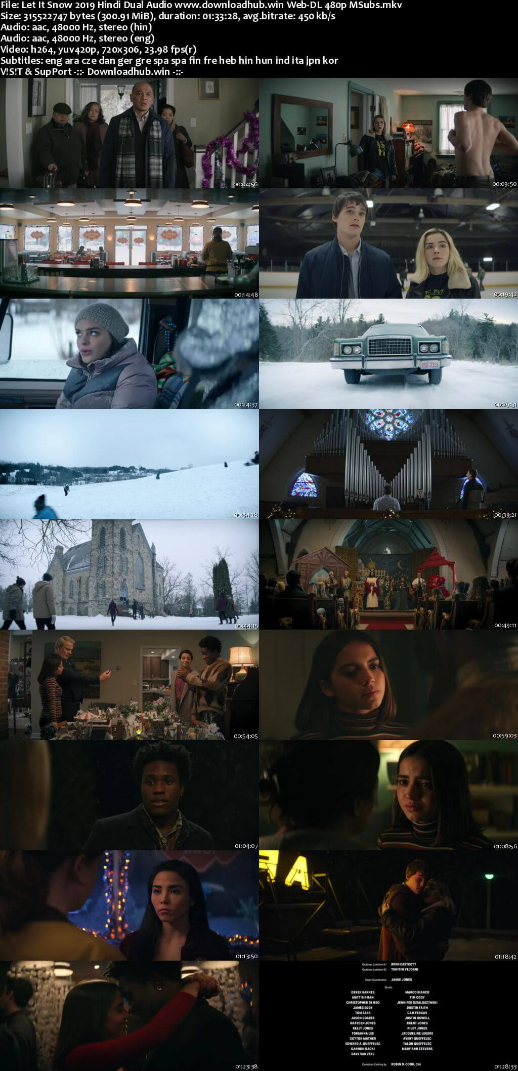 Let It Snow 2019 Hindi Dual Audio 300MB Web-DL 480p MSubs