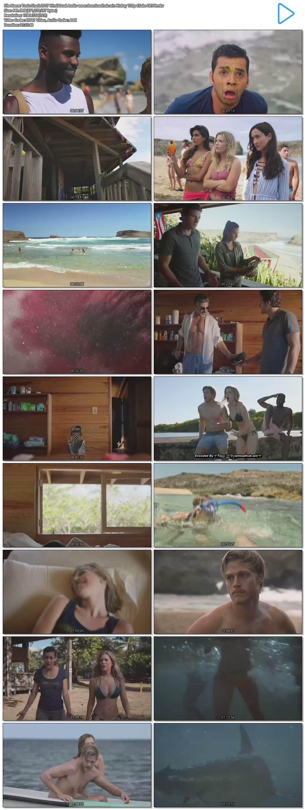 Toxic Shark 2017 Hindi Dual Audio 450MB BluRay 720p ESubs HEVC