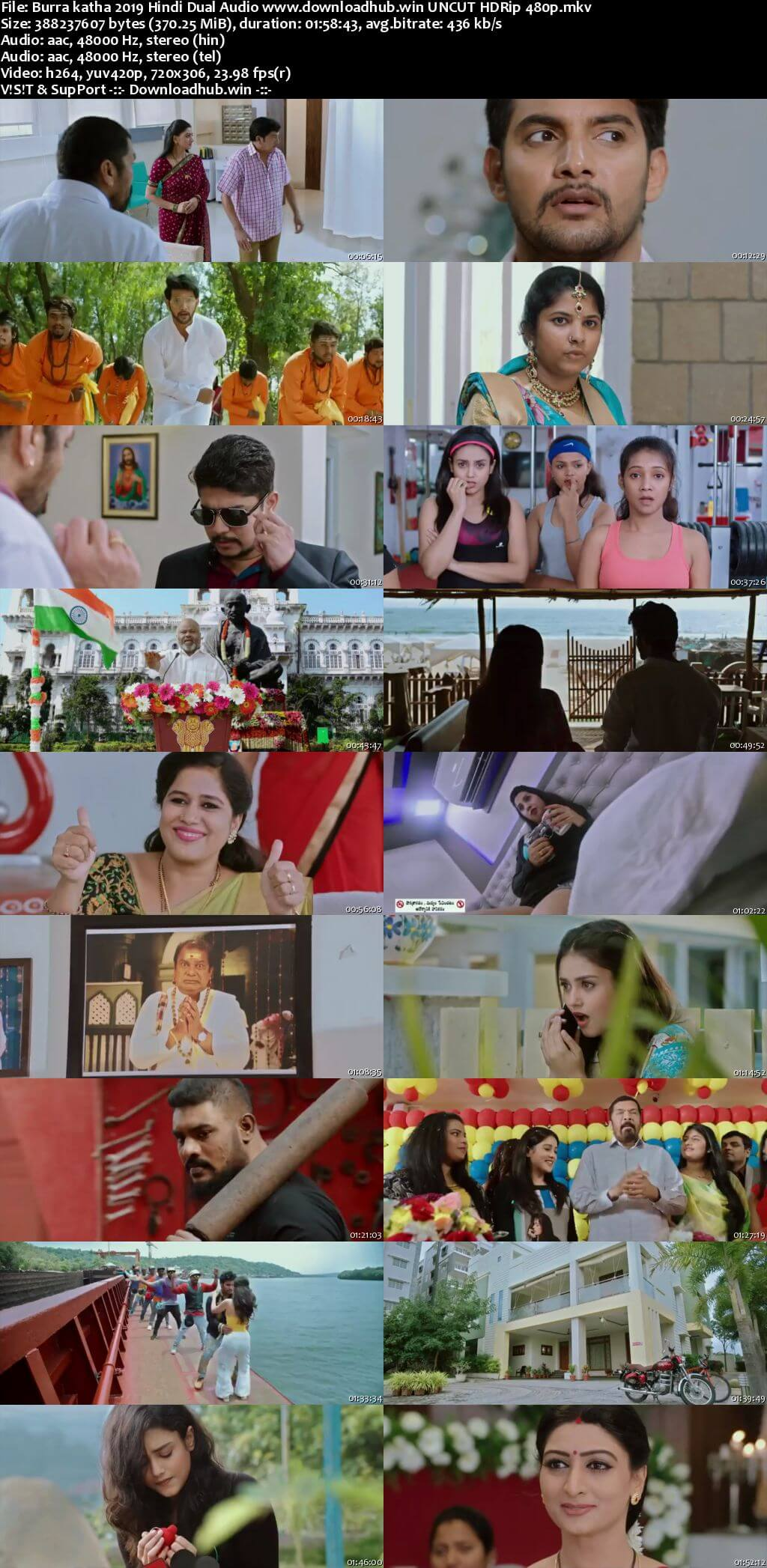 Burra katha 2019 Hindi Dual Audio 350MB UNCUT HDRip 480p