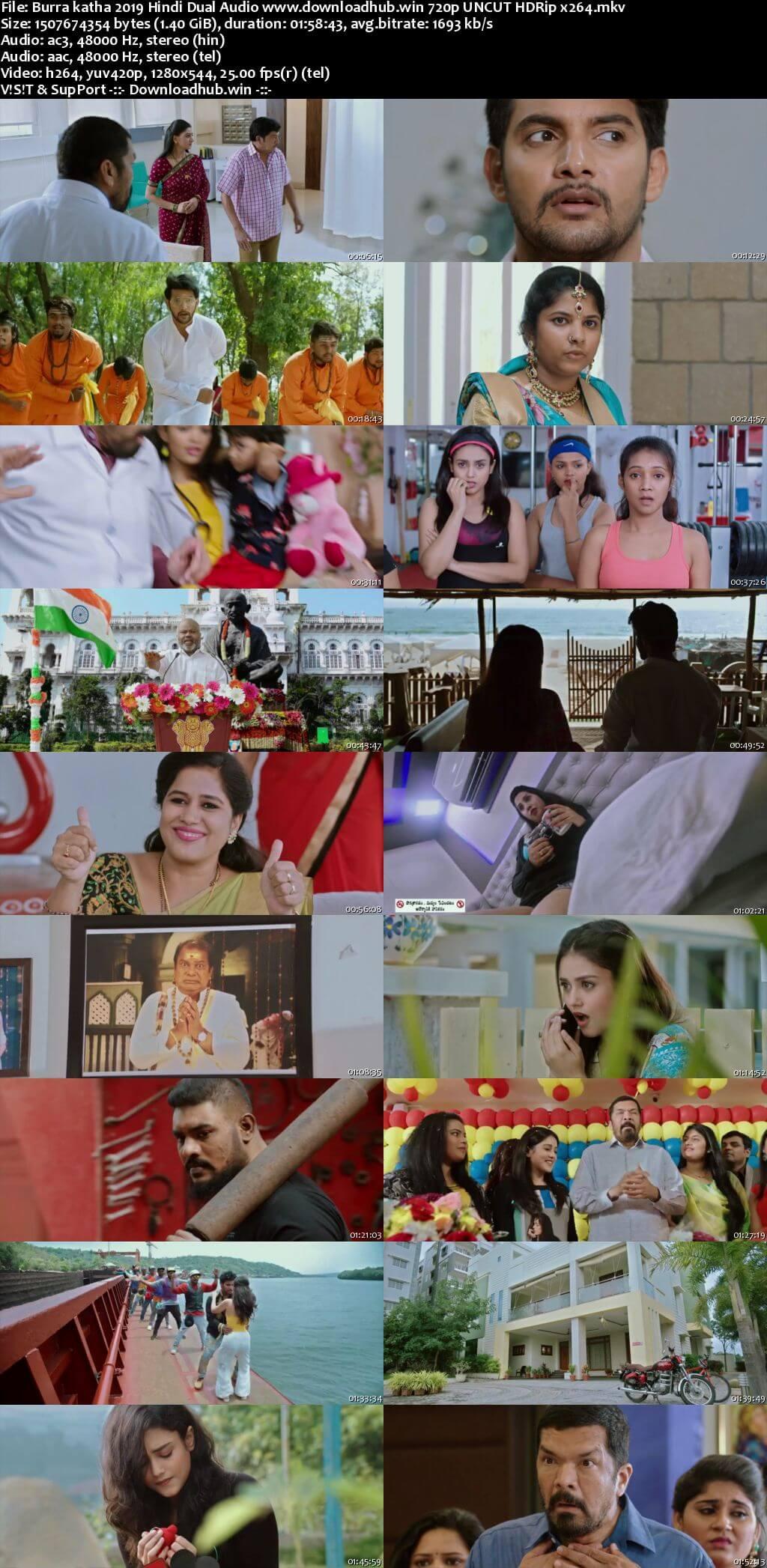 Burra katha 2019 Hindi Dual Audio 720p UNCUT HDRip x264