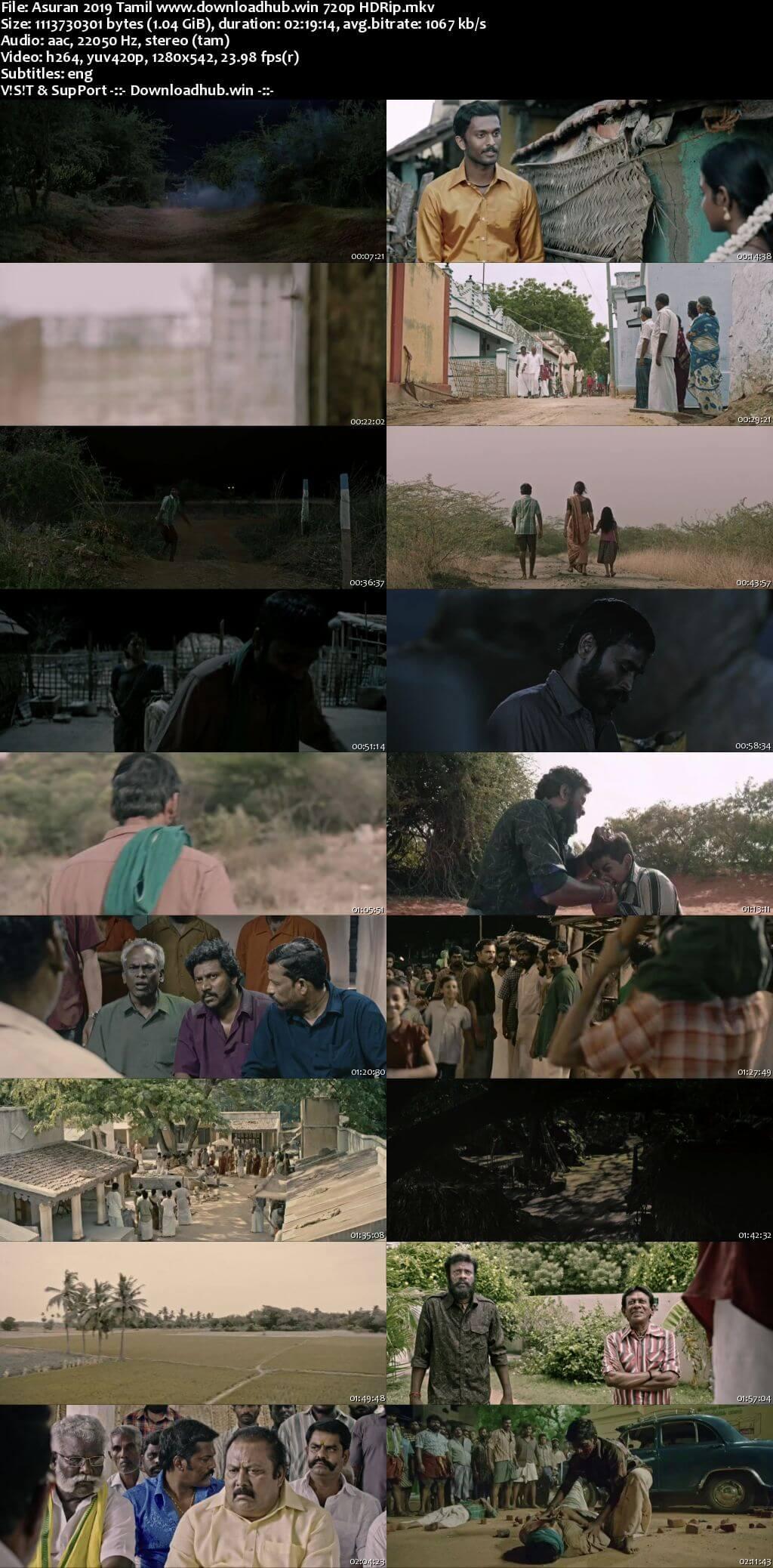 Asuran 2019 Tamil 720p HDRip ESubs