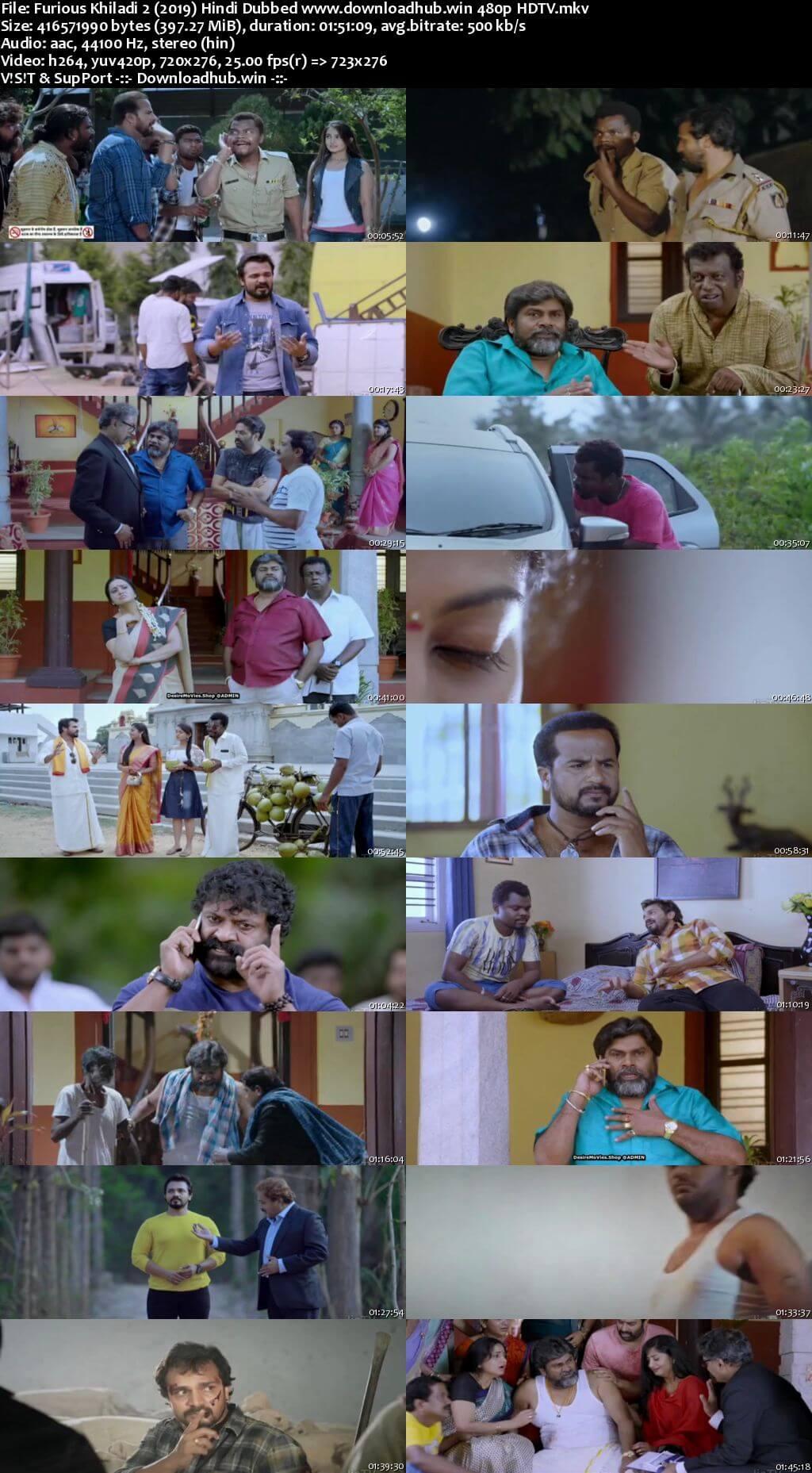 Furious Khiladi 2 2019 Hindi Dubbed 400MB HDTV 480p