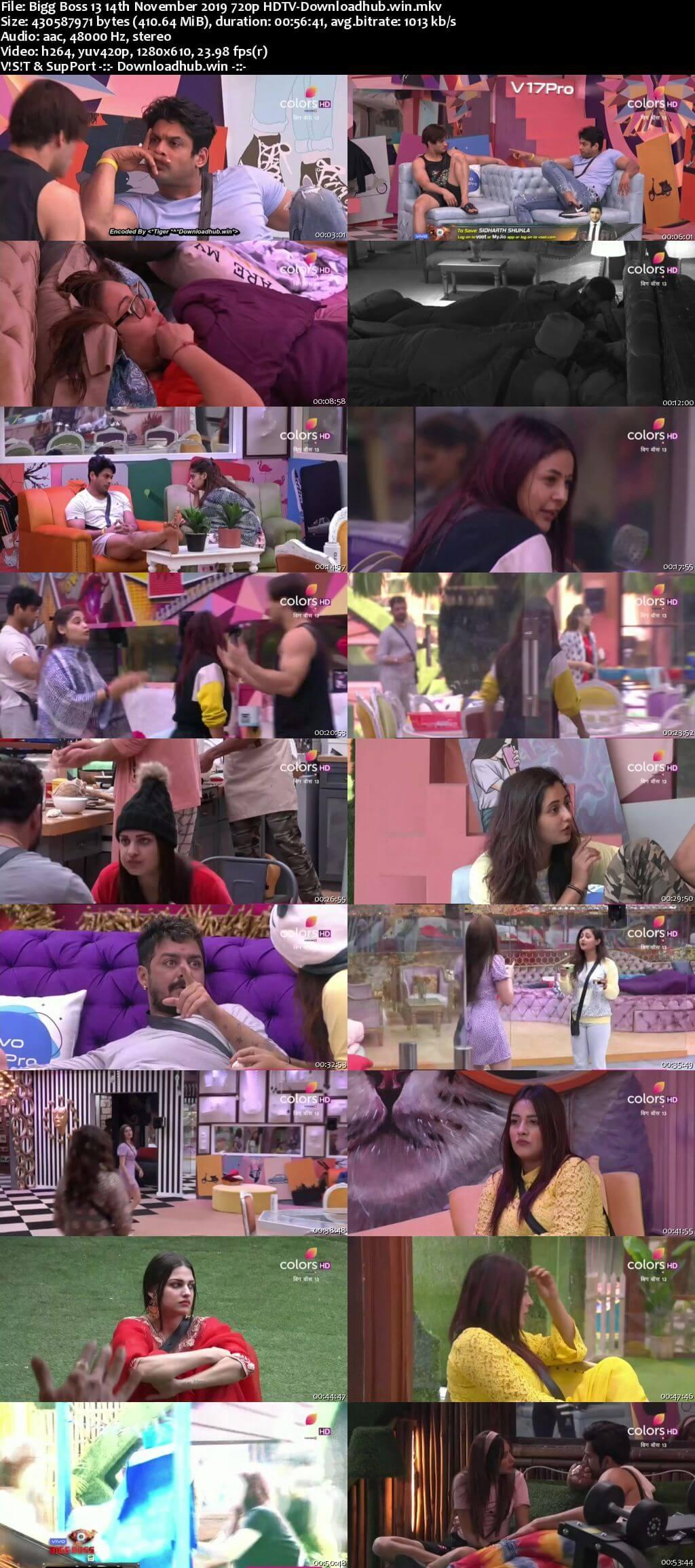Bigg Boss 13 14 November 2019 Episode 45 HDTV 720p 480p