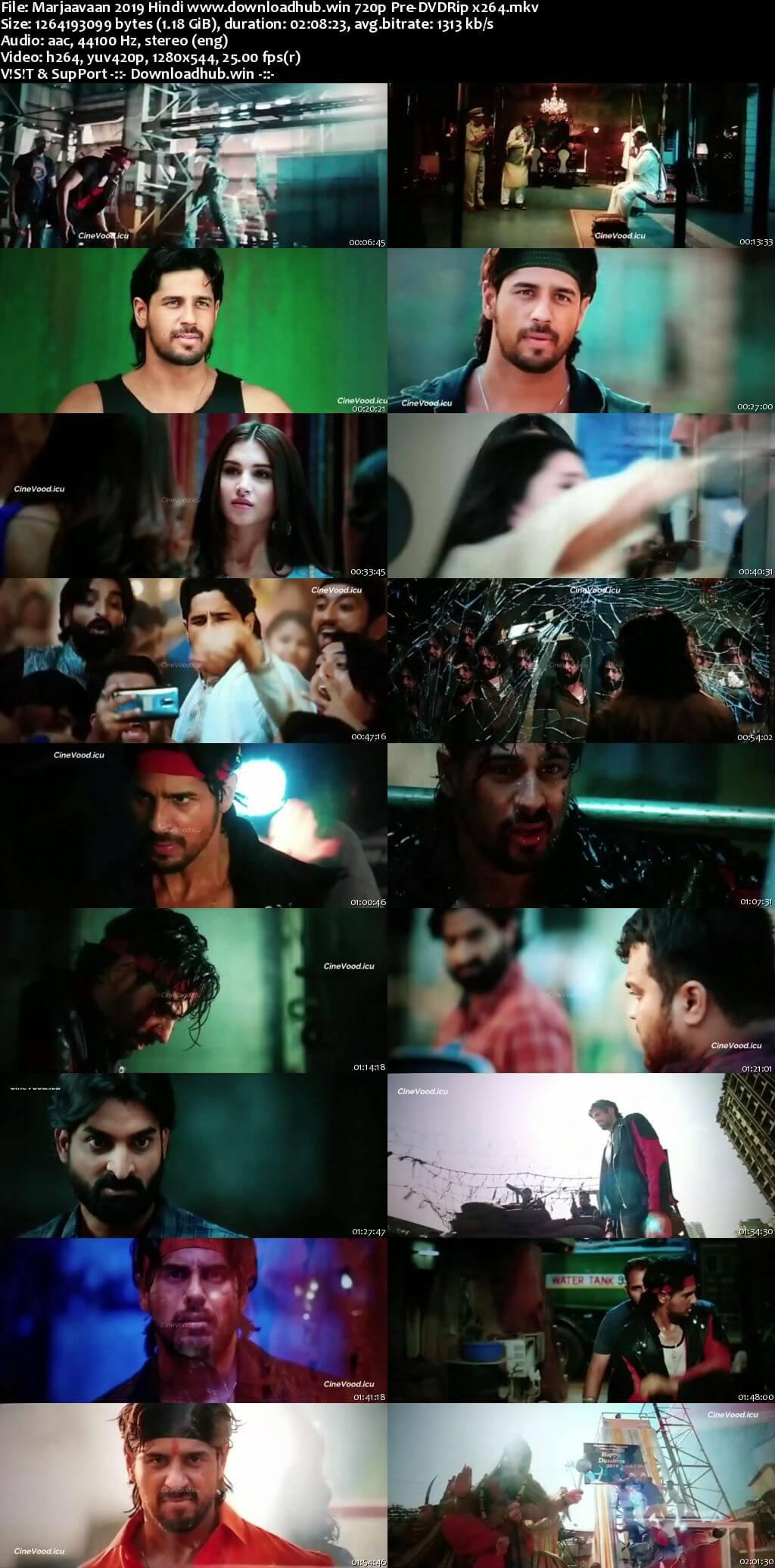 Marjaavaan 2019 Hindi 720p 480p Pre-DVDRip x264