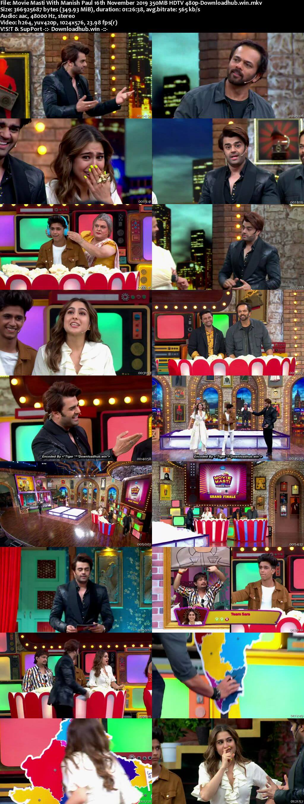 Movie Masti With Manish Paul 16 November 2019 Episode 13 HDTV 480p