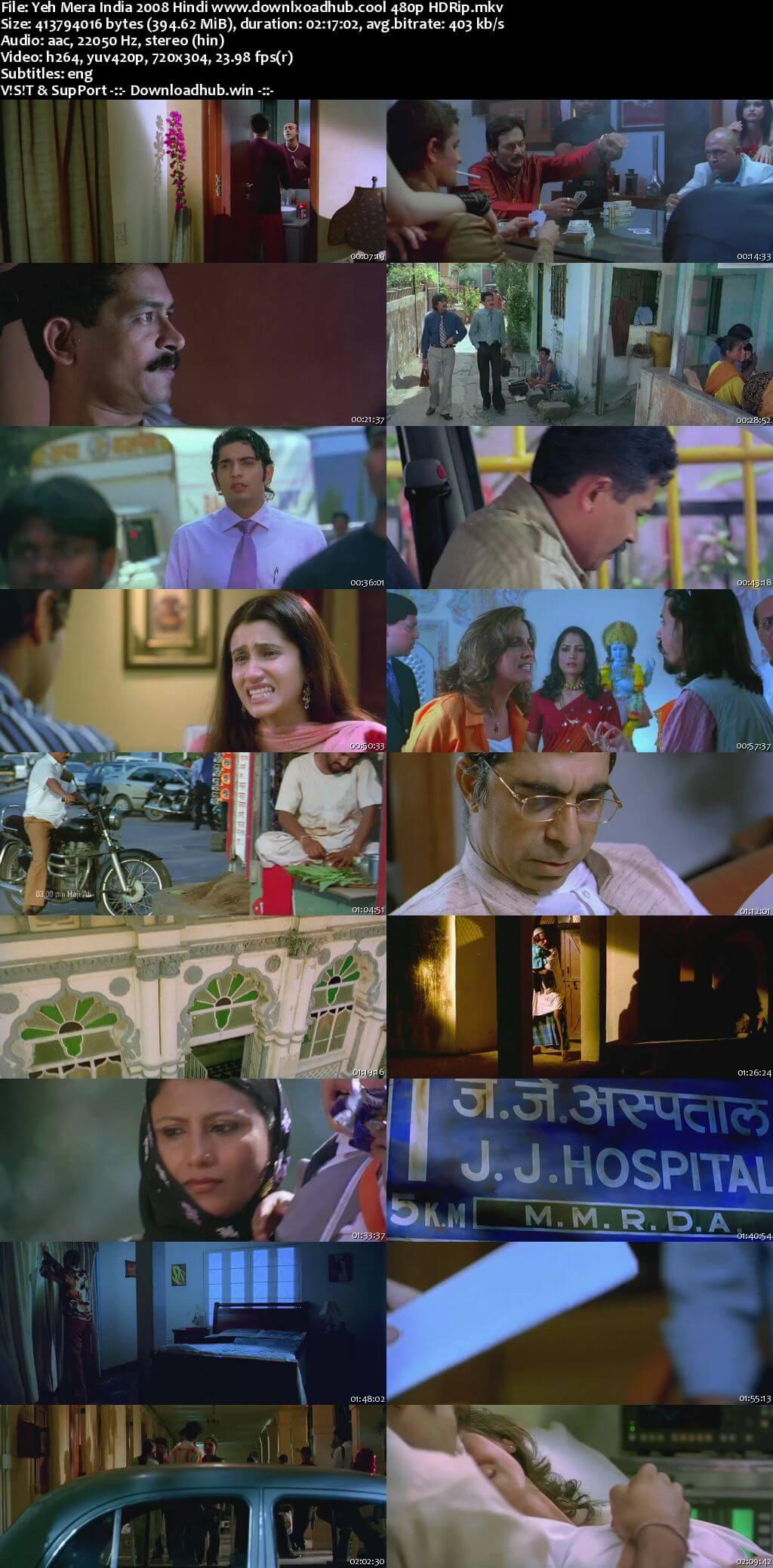 Yeh Mera India 2008 Hindi 400MB HDRip 480p ESubs