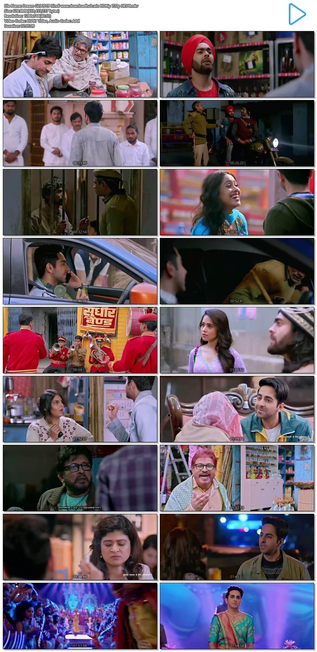 Dream Girl 2019 Hindi 600MB HDRip 720p HEVC