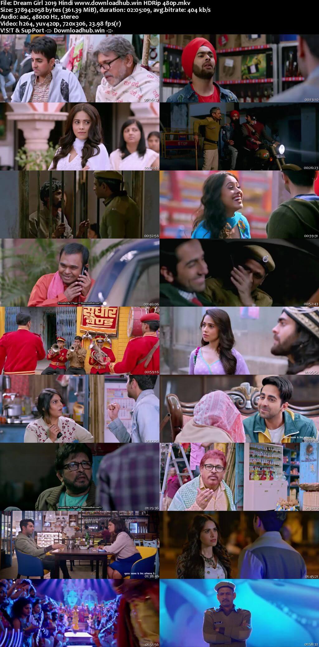 Dream Girl 2019 Hindi 350MB HDRip 480p