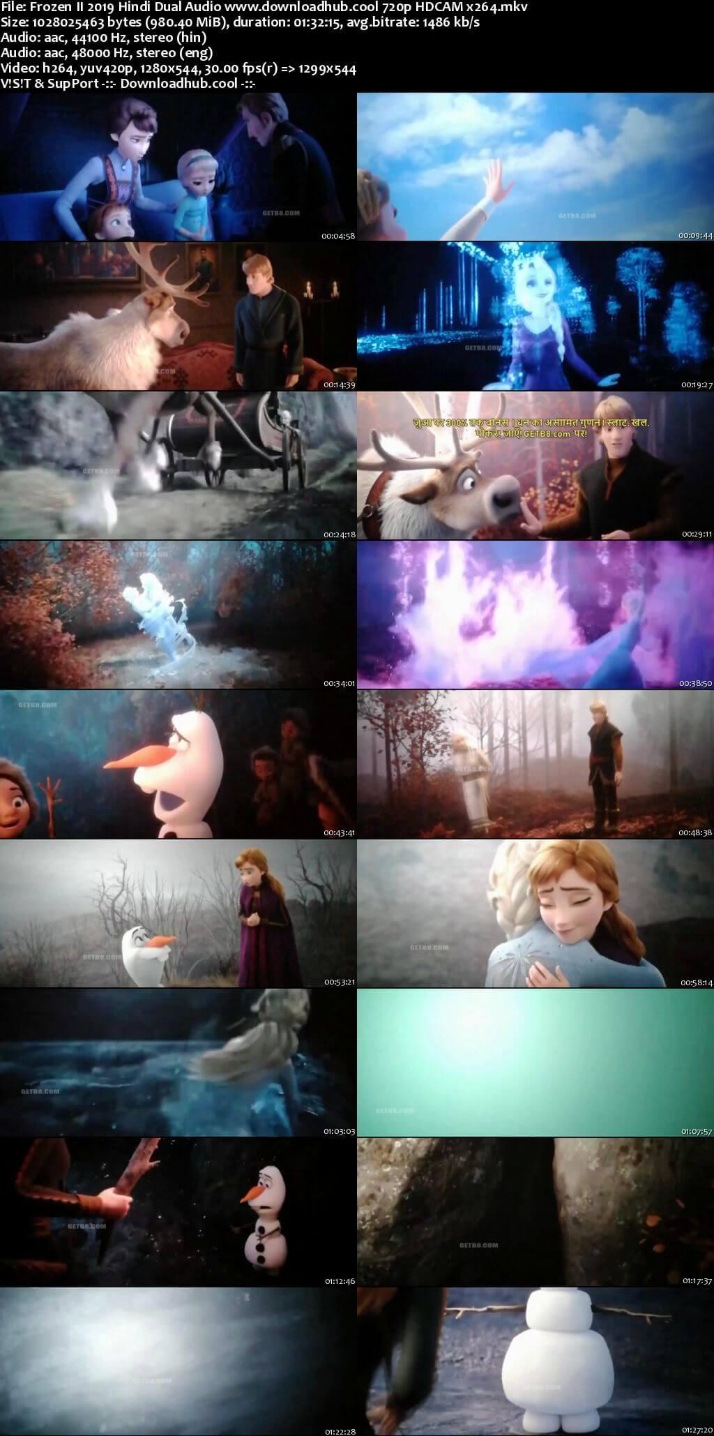 Frozen II 2019 Hindi Dual Audio Torrent 720p HDRip x264 Download 1