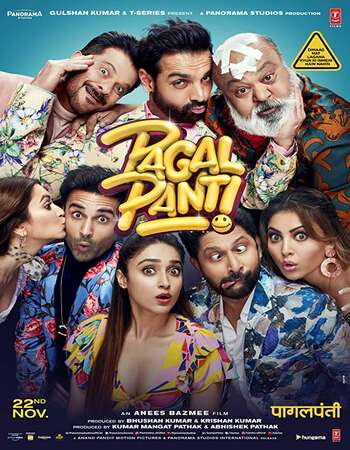 Pagalpanti 2019 Full Hindi Movie 720p HEVC HDRip Download