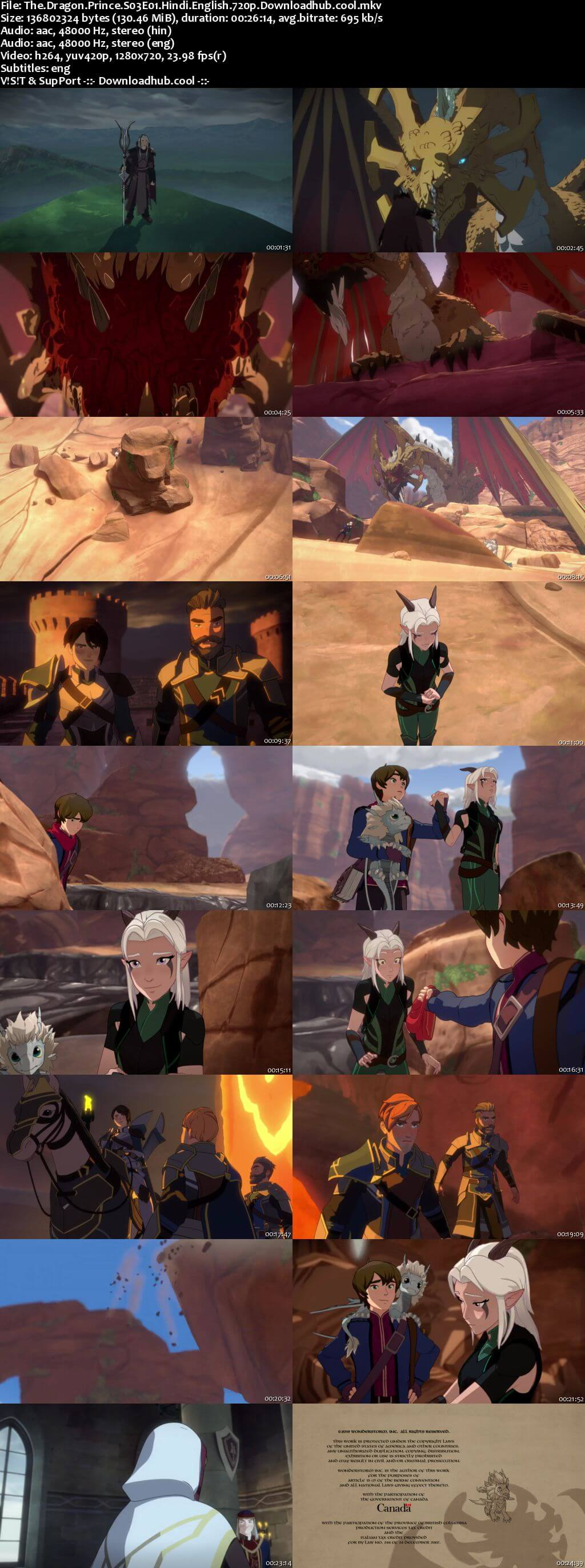 The Dragon Prince S03 Complete Hindi Dual Audio 720p Web-DL ESubs