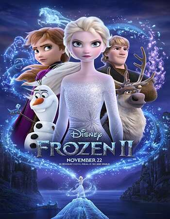 Frozen II 2019 Hindi (Cleaned) Dual Audio 550MB HDRip 720p ESubs HEVC