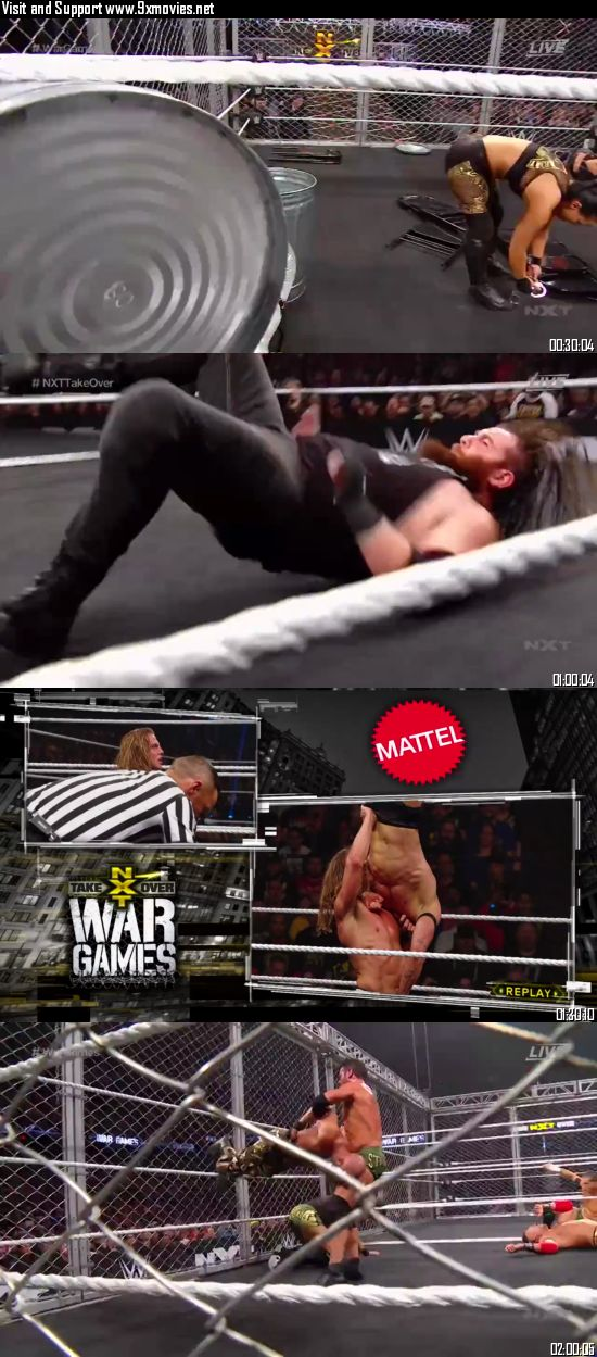 WWE NXT TakeOver WarGames 2019 WEBRip 720p 480p x264 600MB