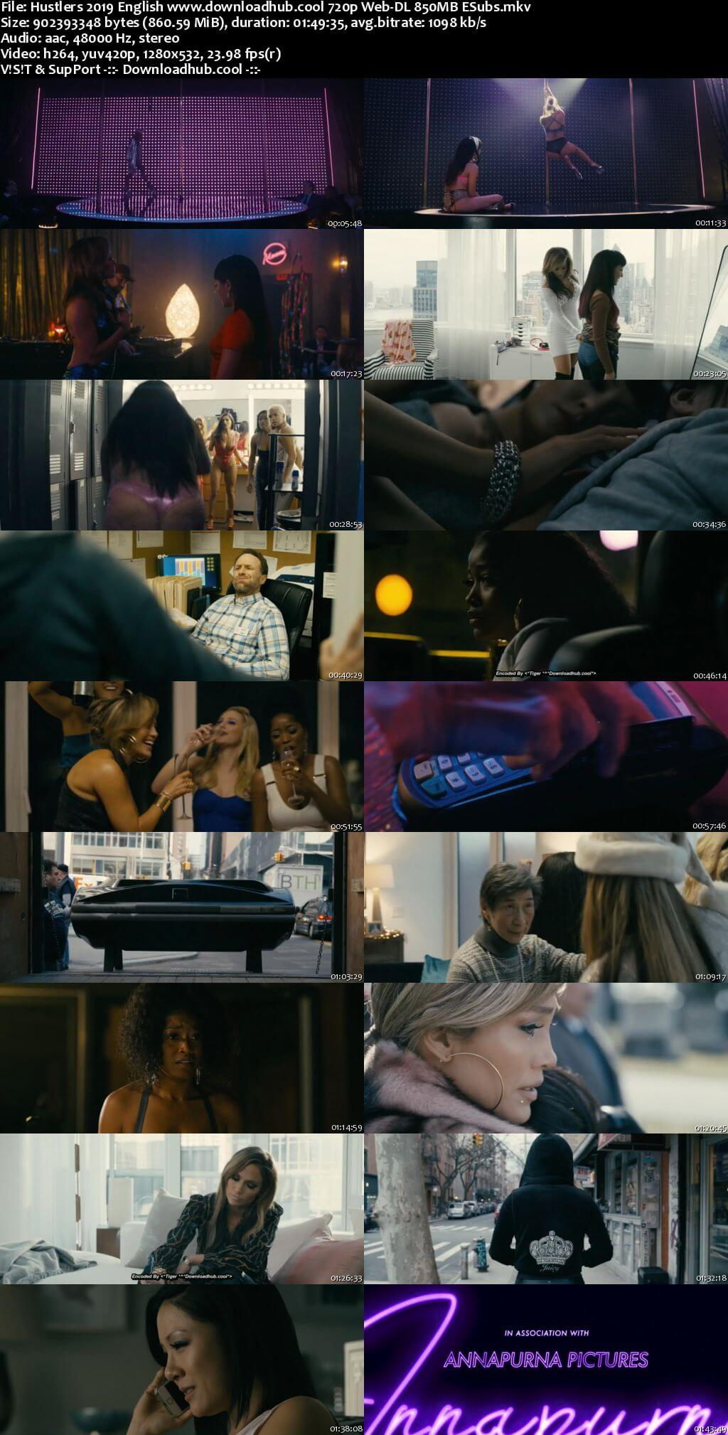 Hustlers 2019 English 720p Web-DL 850MB ESubs