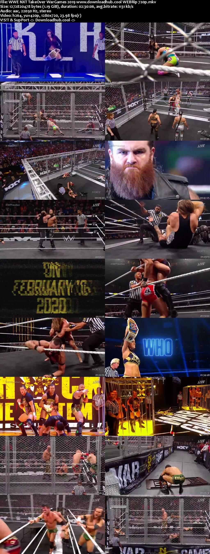 WWE NXT TakeOver WarGames 23rd November 2019 720p 600MB WEBRip 480p