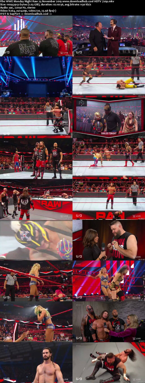 WWE Monday Night Raw 25th November 2019 720p 500MB HDTVRip 480p