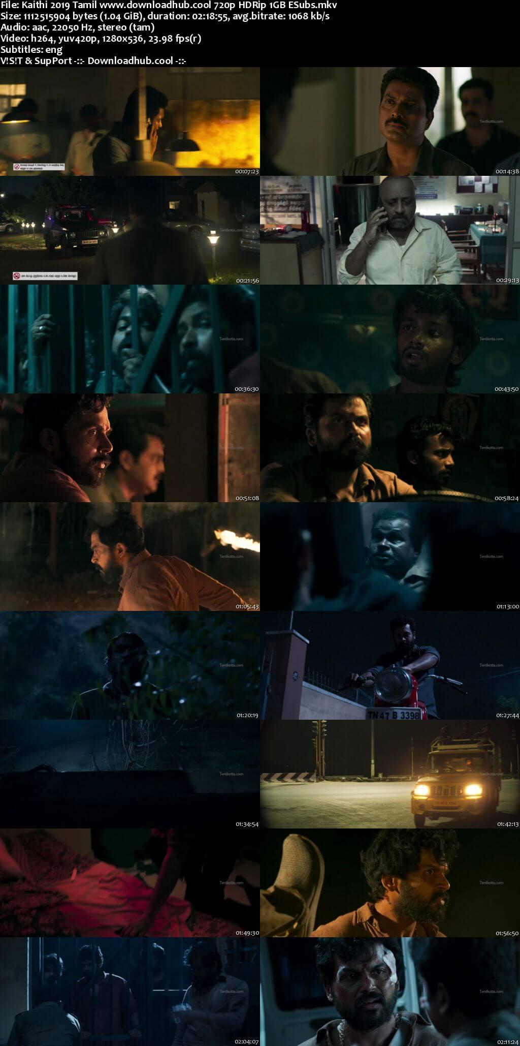 Kaithi 2019 Tamil 720p HDRip ESubs