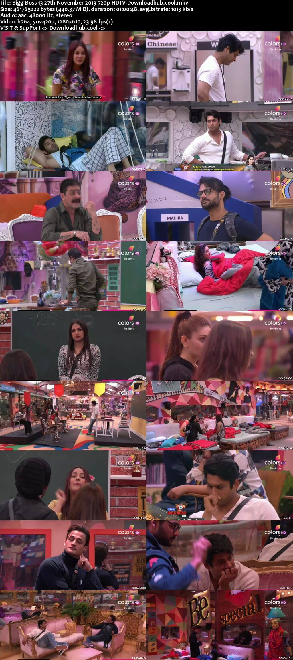 Bigg Boss 13 27 November 2019 Episode 58 HDTV 720p 480p