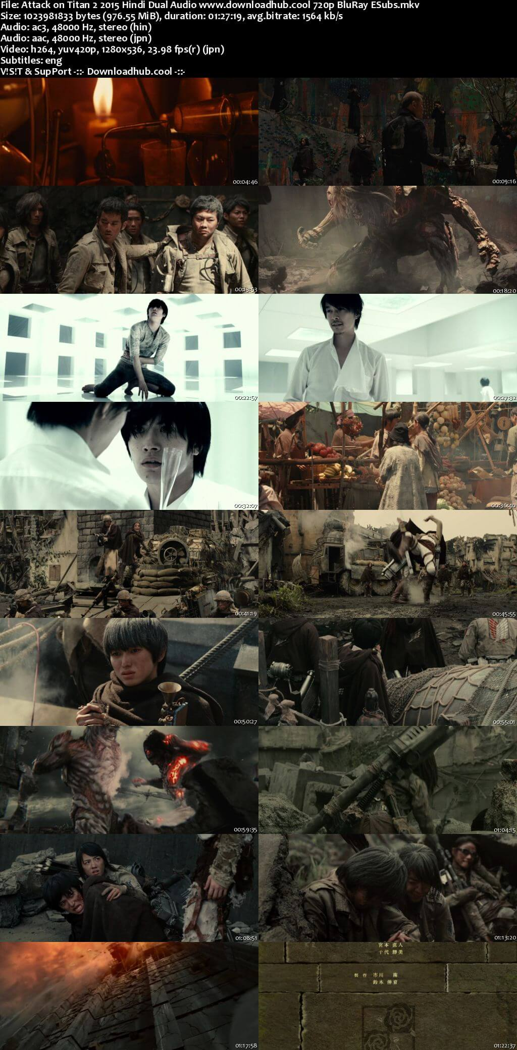 Attack on Titan 2 2015 Hindi Dual Audio 720p BluRay ESubs