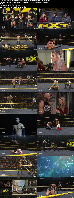 WWE NXT 27th November 2019 400MB HDTV 480p