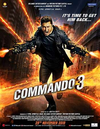 Commando 3 2019 Hindi 720p 480p Pre-DVDRip x264