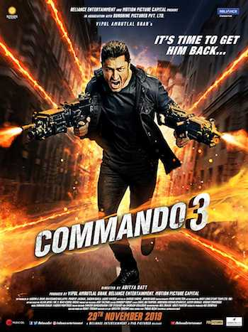 Poster of Commando 3 2019 Full Hindi Free Download Watch Online In HD Movie Download 480p HDRip