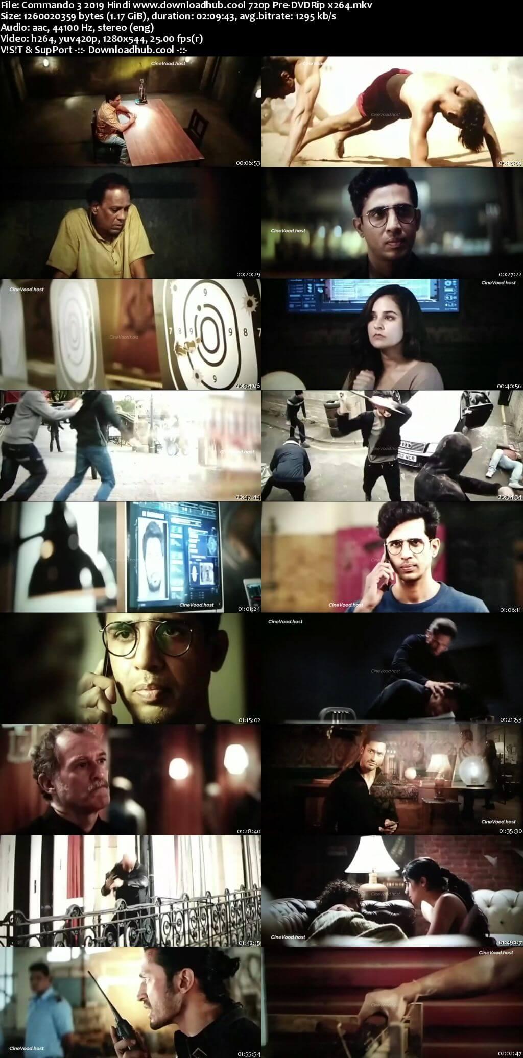 Commando 3 2019 Hindi 720p 480p Pre-DVDRip x264