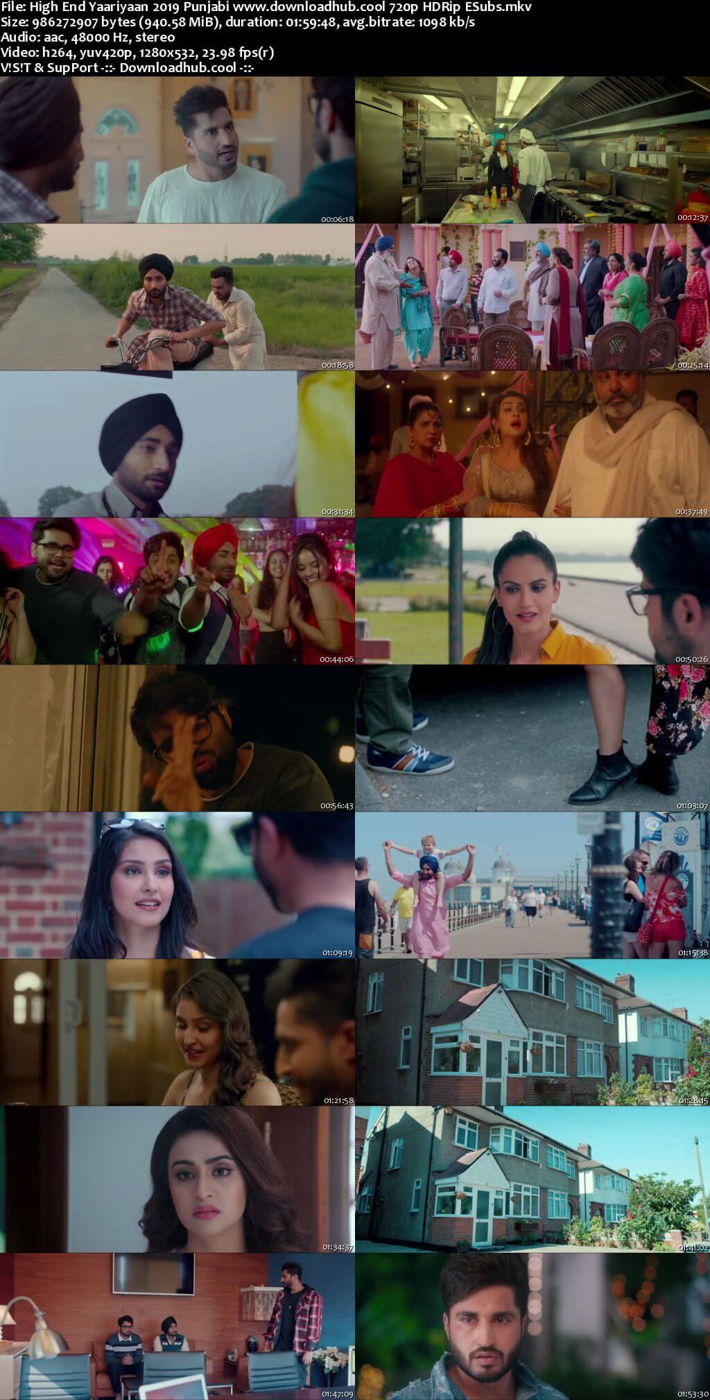 High End Yaariyaan 2019 Punjabi 720p HDRip ESubs