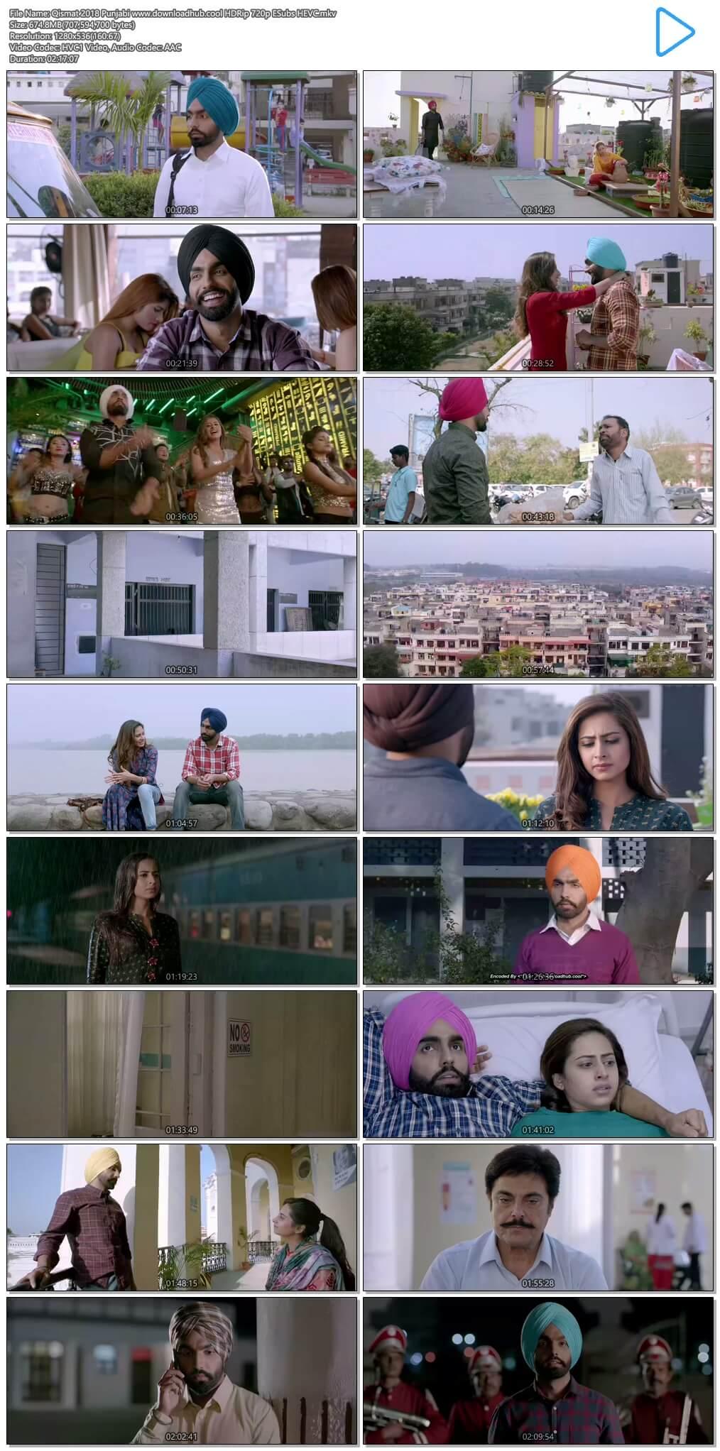 Qismat 2018 Punjabi 650MB HDRip 720p ESubs HEVC