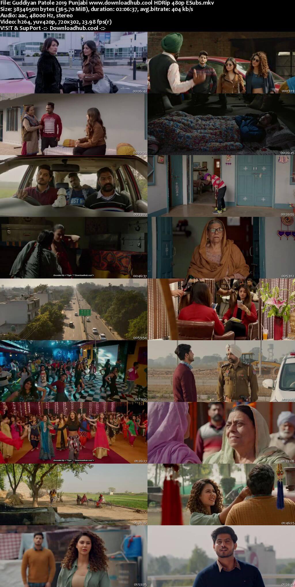 Guddiyan Patole 2019 Punjabi 350MB HDRip 480p ESubs