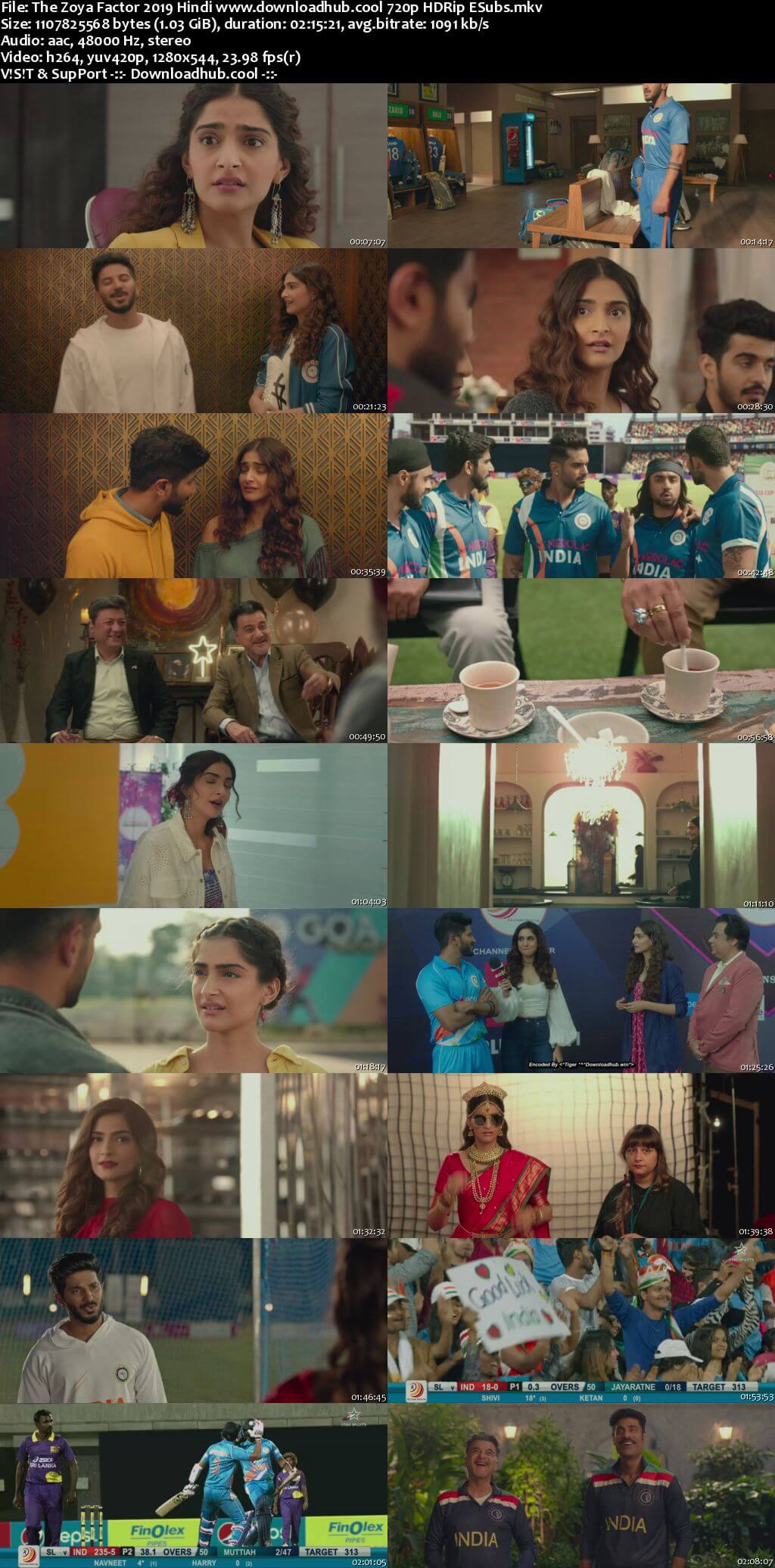 The Zoya Factor 2019 Hindi 720p HDRip ESubs