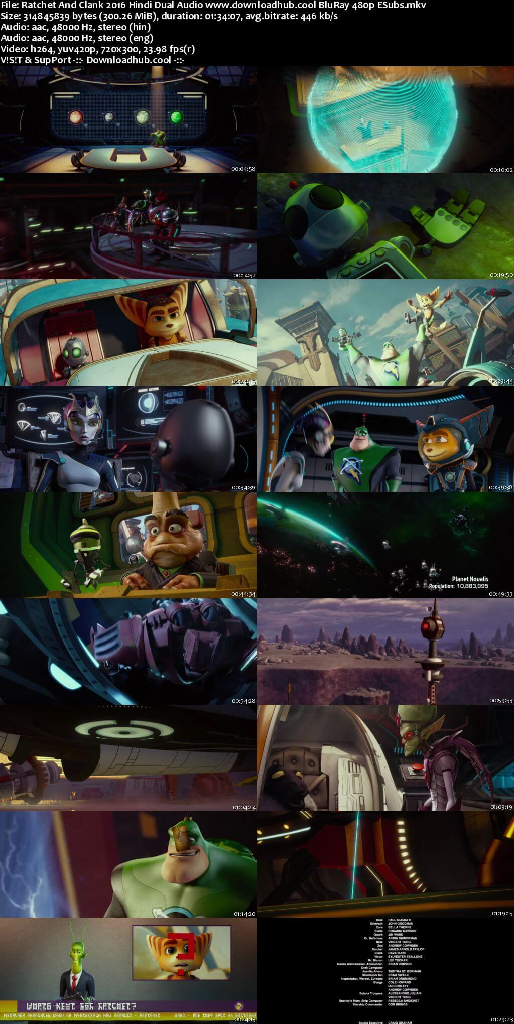 Ratchet And Clank 2016 Hindi Dual Audio 300MB BluRay 480p ESubs