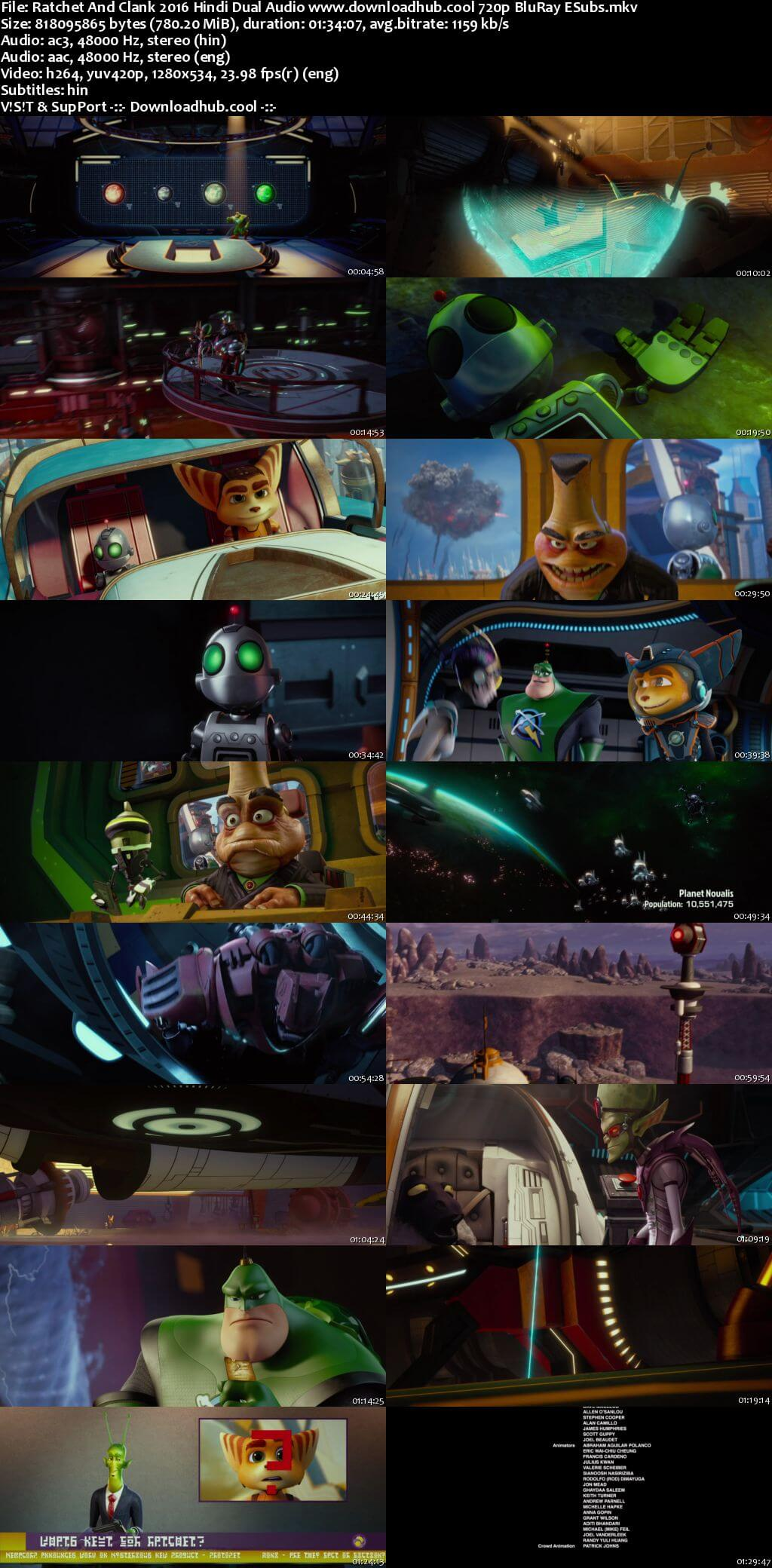 Ratchet And Clank 2016 Hindi Dual Audio 720p BluRay ESubs