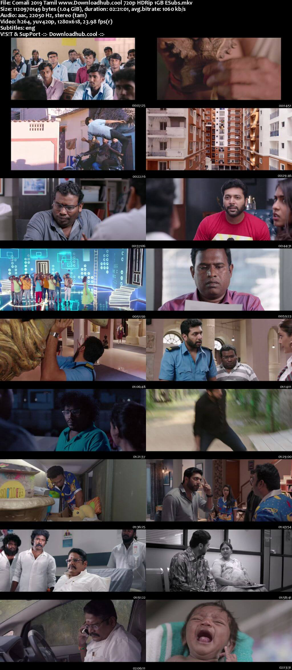 Comali 2019 Tamil 720p HDRip ESubs