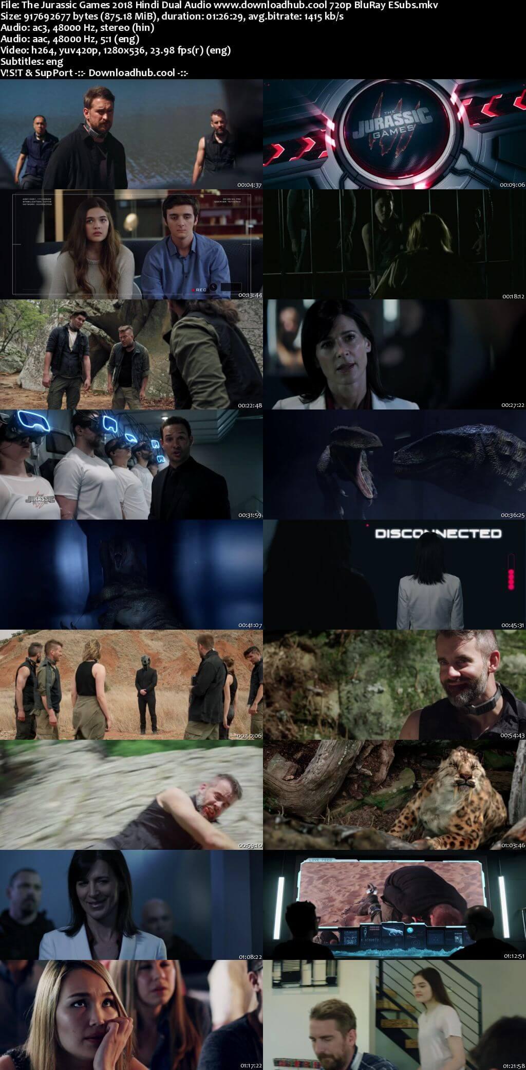 The Jurassic Games 2018 Hindi Dual Audio 720p BluRay ESubs